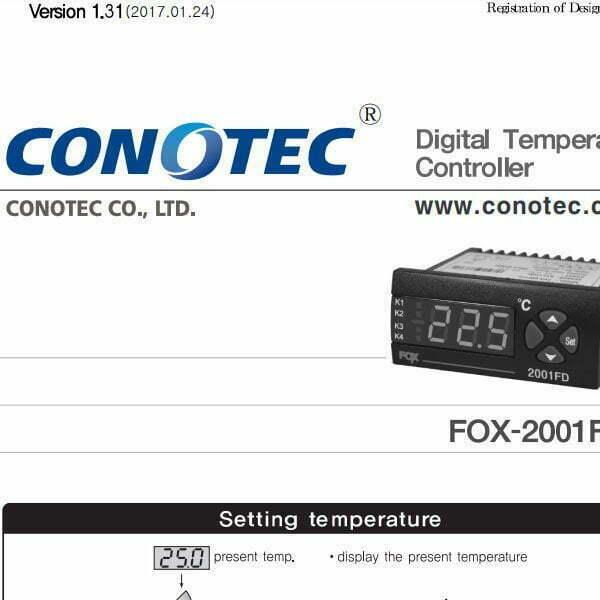 Catalog thiết bị điều khiển nhiệt độ FOX-2001FD