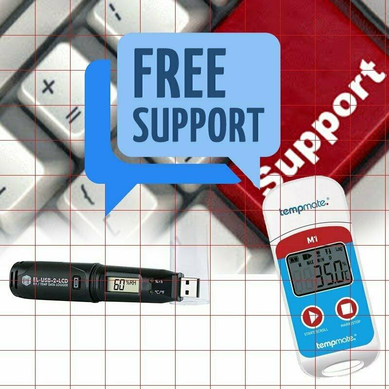 Hỗ trợ miễn phí cài đặt nhiệt ẩm kế tự ghi và phần mềm